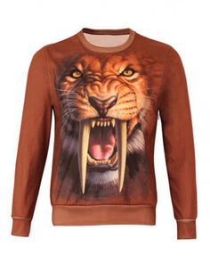 7433b9eeea38 Animal 3D tiger printed long sleeve t shirts for men Tiger Design