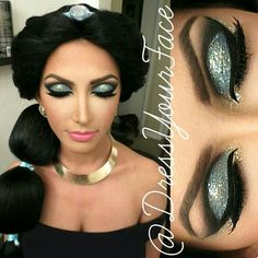 Princess Jasmine makeup
