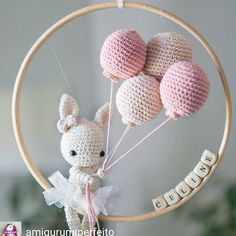 Amigurumi For Baby Room – Knitting And We Crochet Diy, Crochet Amigurumi, Amigurumi Doll, Crochet Crafts, Crochet Dolls, Crochet Projects, Crochet Baby Mobiles, Crochet Baby Toys, Crochet Bunny