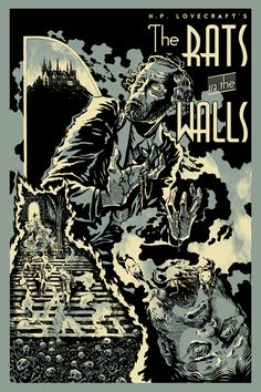 "Today we're looking at ""The Cover for ""Rats in the Walls,"" written in and first published in the March 1924 issue of Weird Tales .Art by M. Necronomicon Lovecraft, Lovecraft Cthulhu, Hp Lovecraft, Call Of Cthulhu Rpg, Lovecraftian Horror, Pulp, Love Craft, Graphic Design Posters, Vintage Comics"