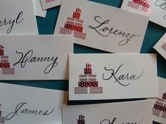 Letterlady's Letters: More Christmas party place cards