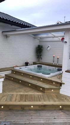 Patio Ideas to Beautify Your Home On a Budget Patio Ideas – Decorating yo. - Patio Ideas to Beautify Your Home On a Budget Patio Ideas – Decorating your patio can be dif - Budget Patio, Hot Tub Patio On A Budget, Jacuzzi Tub, Deck Jacuzzi Ideas, House Goals, My Dream Home, Dream House Plans, Future House, Outdoor Living