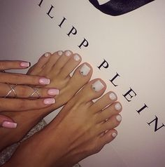 Cute and simple white pedicure.
