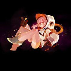 astronaut girl, kakar cheung on ArtStation at https://www.artstation.com/artwork/65kOn