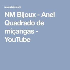 NM Bijoux - Anel Quadrado de miçangas - YouTube