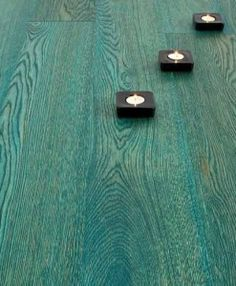 Atkinson & Kirby Concept Elite Engineered Ocean Turquoise Oak Floor Double Brushed Hardwax Oiled