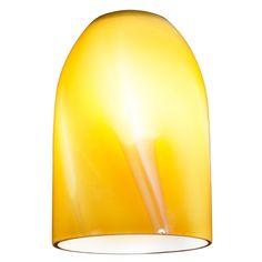 Butterscotch Art Glass Dome Shape Replacement Glass Shade - 1-5/8-Fitter Size…
