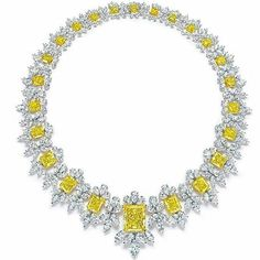 Ronaldabram. Magnificent yellow and white diamond necklace. Unforgettable brilliance. Astonishing.