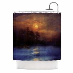 "Viviana Gonzalez ""Hope In The Blue Water"" Brown Orange Shower Curtain Laundry In Bathroom, Bathroom Sets, Wooden Terrace, Shower Curtain Sets, Bed & Bath, Curtains, Water, Blue, Urban"