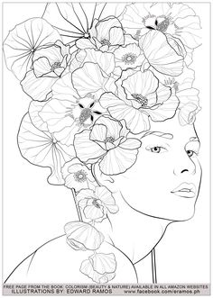 Beauty and nature edward ramos 3 - Zen and Anti stress Coloring Pages for Adults - Just Color Art And Illustration, Watercolor Illustration, Watercolor Art, Illustration Fashion, Coloring Pages To Print, Adult Coloring Pages, Printable Coloring Pages, Colouring Pages, Coloring Books