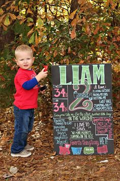 Toddler Birthday Board by OutofDustDesigns on Etsy, $40.00