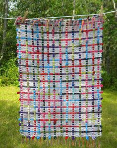 Rag and Cotton Looper Rug by DAYeWeaver on Etsy, $60.00