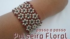 Seed bead jewelry NM Bijoux - Pulseira Floral - passo a passo - Flower Bracelet ~ Seed Bead Tutorials Discovred by : Linda Linebaugh Beaded Bracelets Tutorial, Beaded Bracelet Patterns, Seed Bead Bracelets, Seed Bead Jewelry, Bead Earrings, Seed Beads, Seed Bead Tutorials, Beading Tutorials, Loom Bracelets