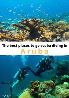 the best places to go scuba diving in Aruba Oranjestad, North Europe, City Break, Outdoor Travel, Scuba Diving, Aruba Aruba, The Good Place, Places To Go, Road Trip