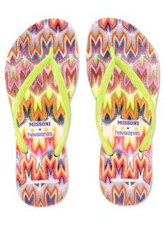 Missoni and Havaianas flip-flops- Perfect For The Beach ...