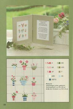Cute tiny flowers cross stitch chart / pattern