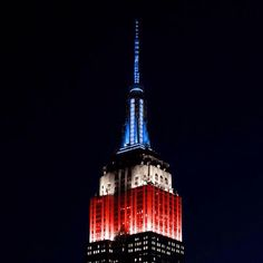 Empire State Building lit up for the New York Rangers❤️