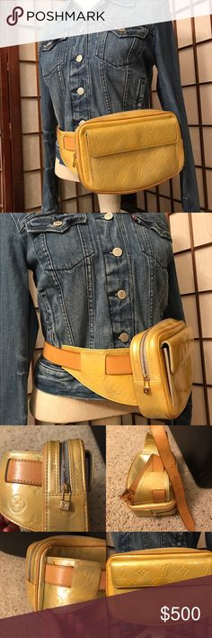 Authentic Louis Vuitton fanny hip bum bag Good used condition, some fading of yellow and some light spots see photos, smoke and pet free Louis Vuitton Bags Crossbody Bags