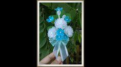 ดอกมะลิผ้าใยบัว How to stockingflower (Jasmine brooch )by ployandpoom (ผ...