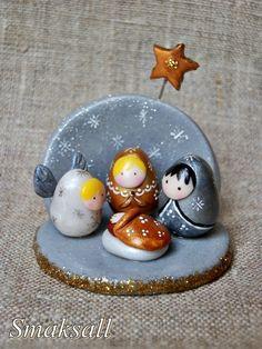 Little Crèche de Noël Poupée Russe °°sur commande°° : Accessoires de maison par smaksall