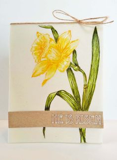Easter Card Ideas A Muse Studio He is Risen