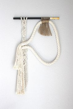 """Macrame Wall Hanging """"Lost in language"""" by HIMO ART, One of a kind Handcrafted…"""