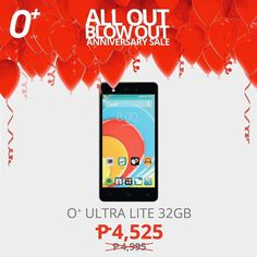 Want a stylish phone with 40GB bigger memory? The O Ultra Lite is now only Php 4525! #OplusUSA #OplusUltra #sale #promo #phone #tech #device #android