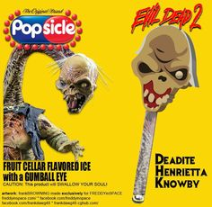 The Ice Cream Man Delivers Tasty Horror Movie Popsicles! Real Horror, Funny Horror, Horror Show, Horror Art, Sci Fi Movies, Scary Movies, Disney Movies, Ash Evil Dead, Latest Horror Movies
