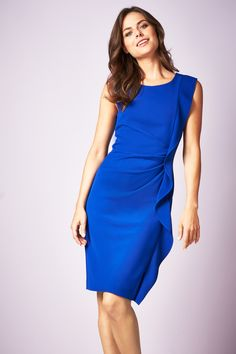69b9ce9920 Naomi Frill Blue Dress Plus Size Ruhák, Plus Size Nők, Testhezálló Ruha