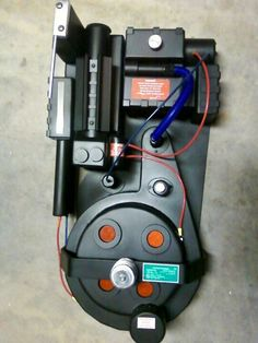 Ghost buster proton pack (back pack) I made for my brother in law for Halloween.