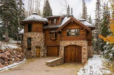 ski lodge -- 91 White Pine Canyon Rd, Park City, UT 84060 i Tower House, Castle House, Log Cabin Homes, Cottage Homes, Stone Houses, Future House, Beautiful Homes, Architecture Design, House Plans