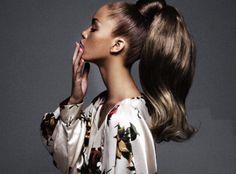 barbie ponytail if I had this much hair. Love Hair, Great Hair, Big Hair, Gorgeous Hair, Amazing Hair, Pretty Hairstyles, Straight Hairstyles, Barbie Ponytail, Ponytail Styles