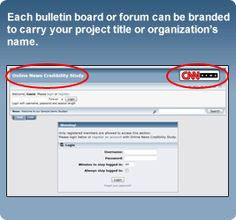 Each bulletin board can be branded to carry your project title or organization's name.