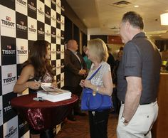 July 25, 2015:  Danica Patrick Tissot event in Indianapolis IN. DP signs autographs for fans. (HHP/Harold Hinson)