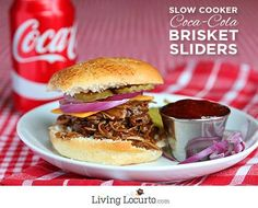 Slow-Cooker Coke Brisket Sliders and Candied Jalapeño Pimento Cheese Bites Recipes. Easy Football Party Appetizers for the big game! Slow Cooker Beef, Slow Cooker Recipes, Beef Recipes, Cooking Recipes, Crockpot Ideas, Quick Recipes, Beef Appetizers, Appetizers For Party, Slow Cooking