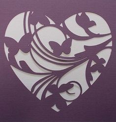 Plantilla broche de oro del corazón por kraftkutz en Etsy