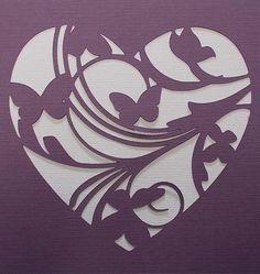 Plantilla broche de oro del corazón por kraftkutz en Etsy …