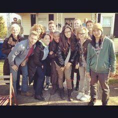 (48) UTD cast 2013. From left to right: Beth Broderick, Mike Vogel, Rachel Lefevre, cast extra, Aisha Hinds, Natalie Martinez, Mackenzie Lintz, Samantha Mathis, Colin Ford, and John Elvis.