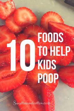 Foods to help kids poop