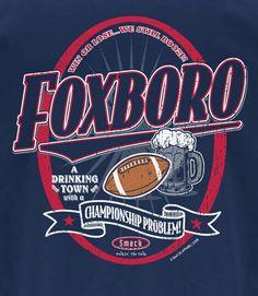 Sm-5X Navy T-Shirt Patriot Rings Smack Apparel New England Football Fans