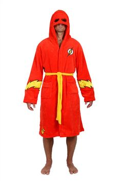 7865a34ea6 DC Comics Red Flash Hooded Fleece Robe The Flash