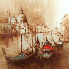 Ang Ah Tee - Venice Painting Inspiration, Art Inspo, Singapore Art, Watercolor Pictures, Fine Art Gallery, Illustration Art, Illustrations, Beautiful Artwork, Great Artists