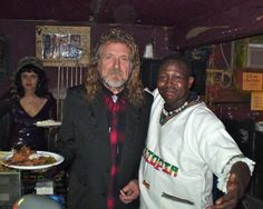 This one also was around the same time - might have been into 2012 -  Robert Plant at Sahara Lounge In East Austin with Sahara Owner Ibrahim Aminou.