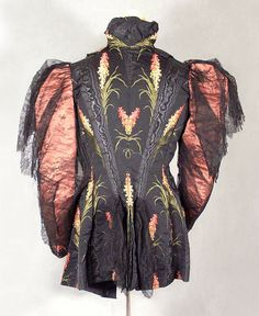 White Howard & Co. silk brocade jacket, c.1895, from the Vintage Textile archives.
