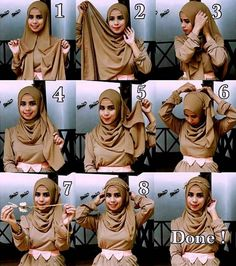 Contoh Model Tutorial Hijab Pesta BNagh898