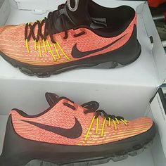 newest 49434 43995 Nike Shoes   Kd 8 Hunts Hill Sunrise Throw An Offer   Color  Orange   Size   9.5