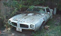 73 trans am super duty 4 speed...Whoa, super rare car wasting away :-(