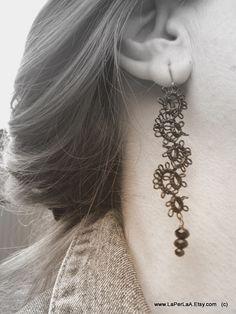 Pretty tatted earrings