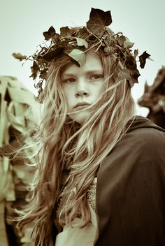 Young lass at Jack in the Green, Hastings 2012 - by  s h i m u z u  ©