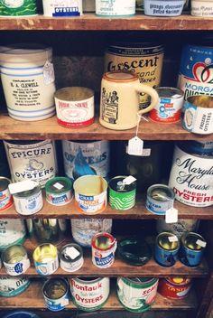 Vintage oyster tins!